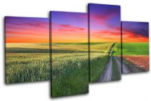road Countryside Sunset Seascape - 13-0200(00B)-MP04-LO